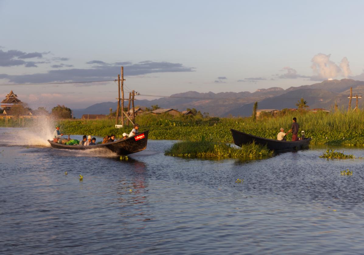 Croisière en pirogue sur le Lac Inle