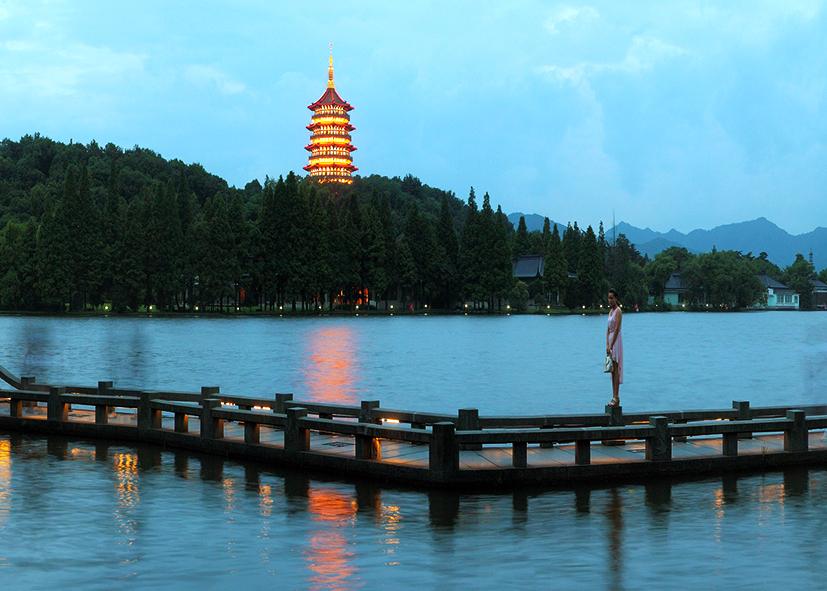 Rives du lac de L'Ouest à Hangzhou