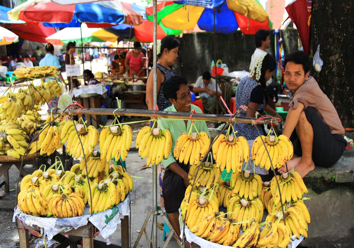Les marchés de Yangon