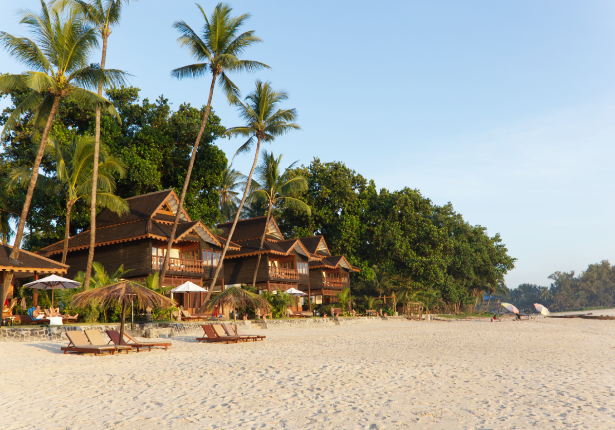 Plage à Ngapali sur la mer d'Andaman