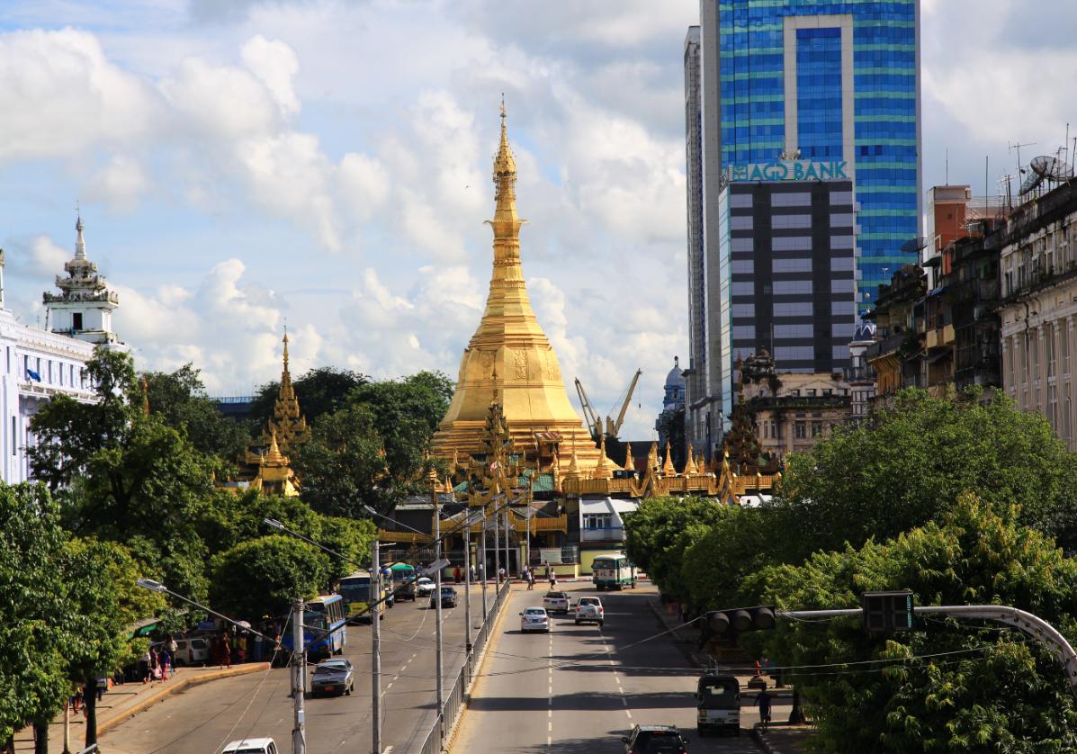 La pagode Sule à Yangon