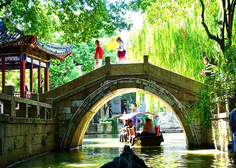 Canaux de Suzhou, paisible village d'eau