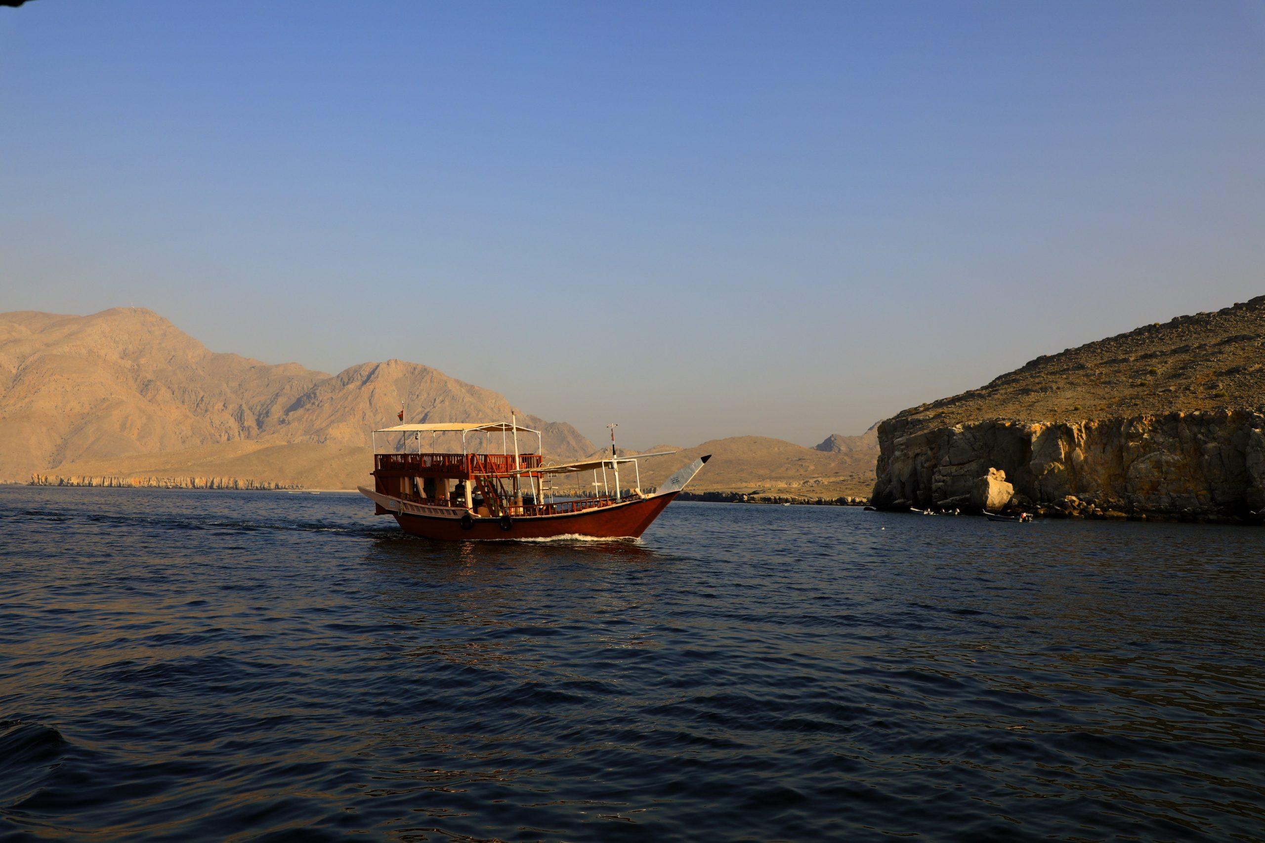 Croisière dans les fjords de Musandam à bord d'un Dhow