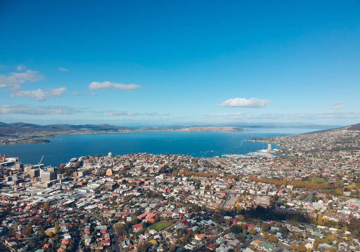 Arrivée à Hobart, capitale de la Tasmanie