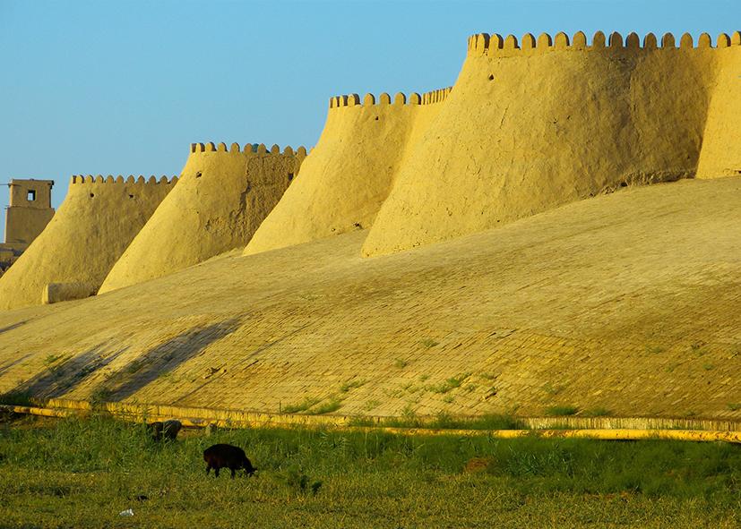 Fortifications de la citadelle de Khiva