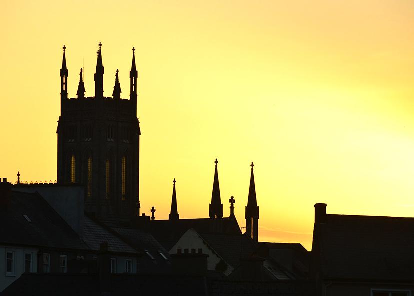 Coucher de soleil sur l'Abbaye de Kilkenny