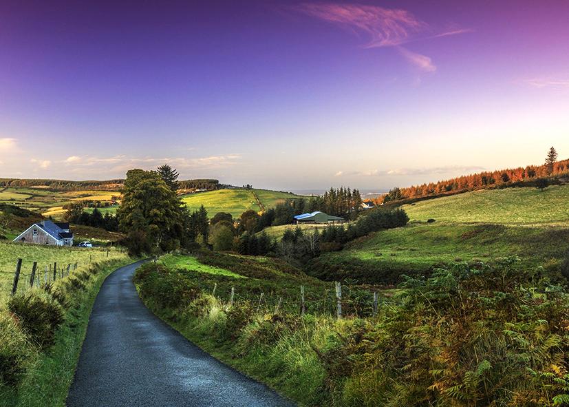 Les paysages en couleur dans l'Anneau du Kerry