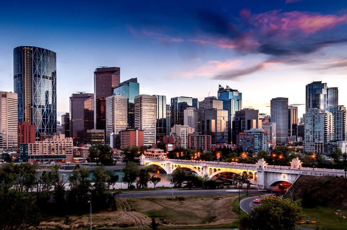 Vue panoramique depuis la tour de Calgary