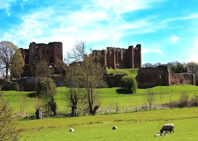 Château de Kennilworth dans les Midlands