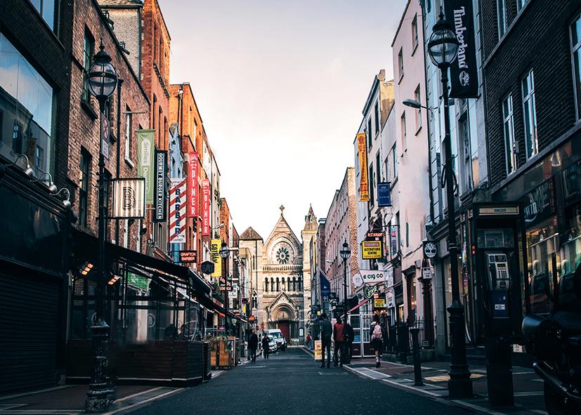 Le centre animé de Dublin