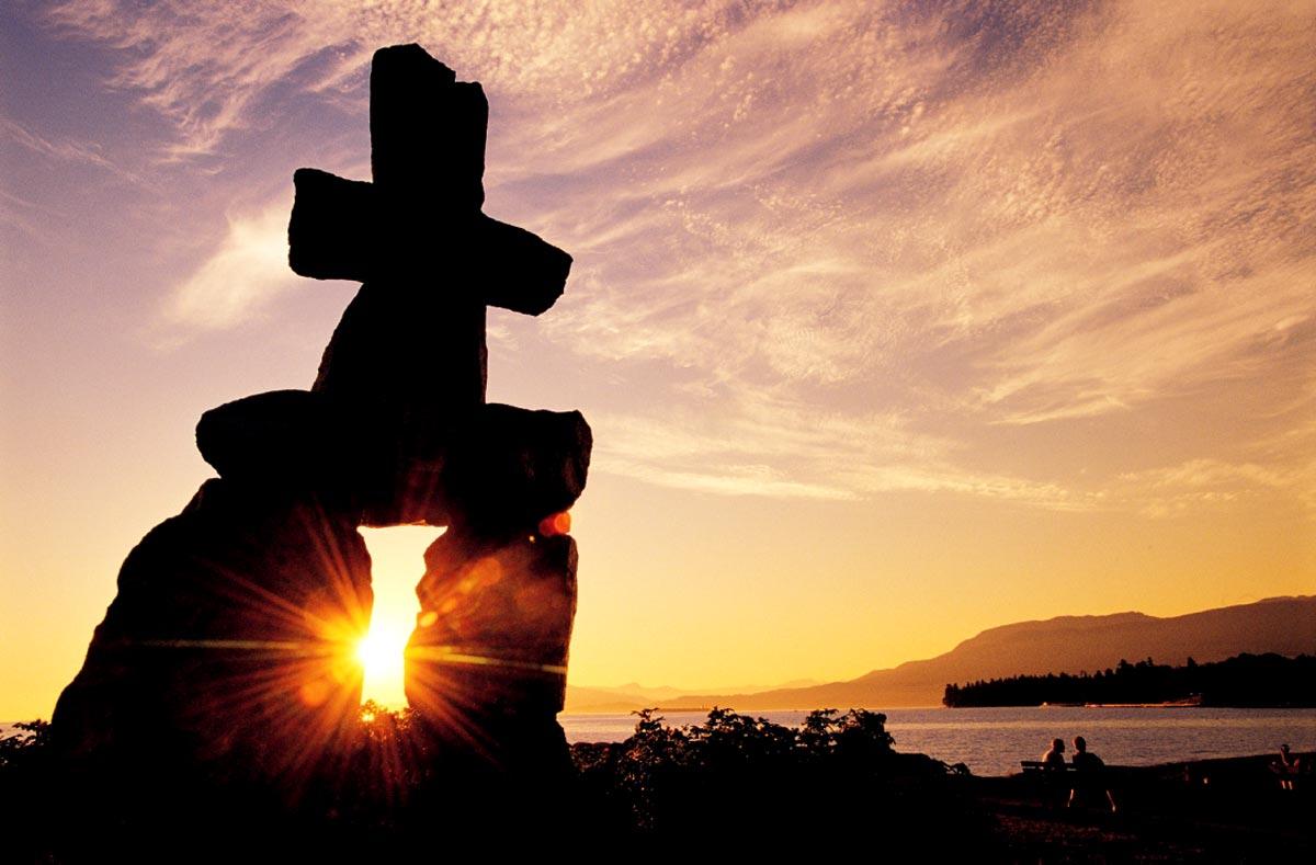 Parc Stanley de Vancouver au coucher du soleil