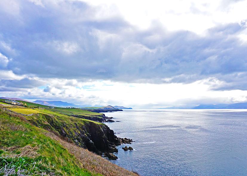 Coucher de soleil sur la péninsule de Dingle