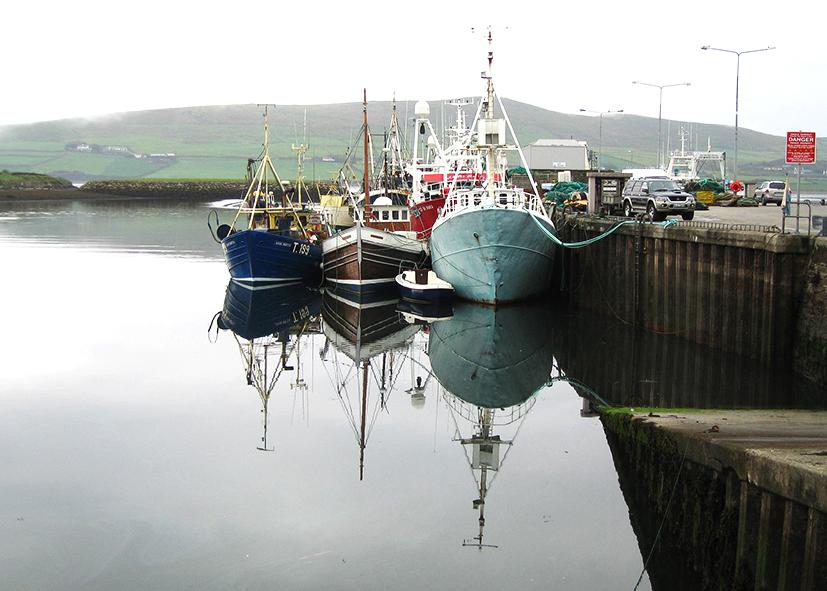 Bateaux de pêche dans le port du village de Dingle