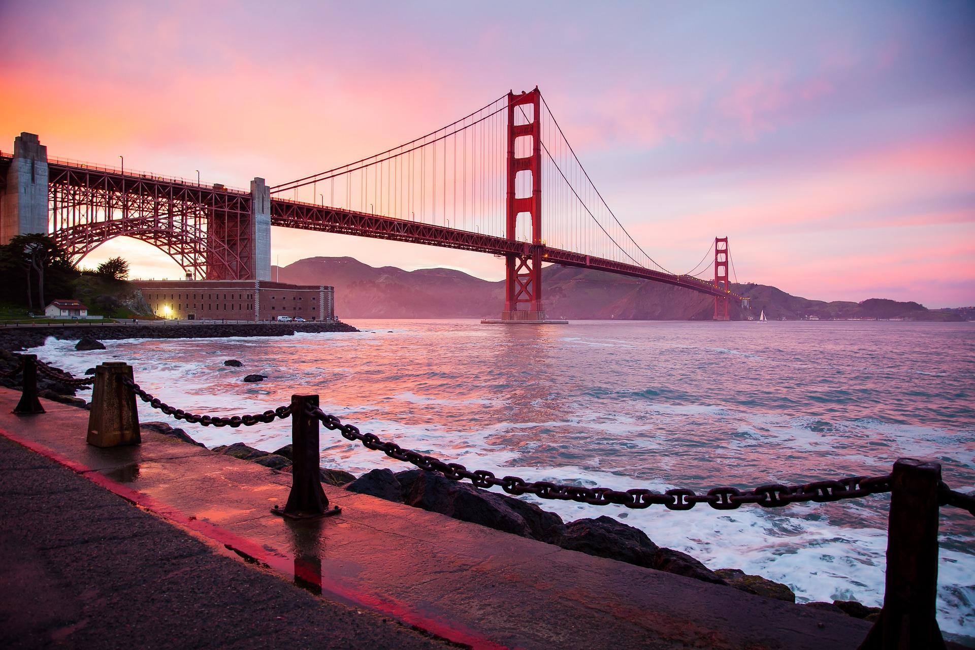 Panorama du Golden Gate à San Francisco