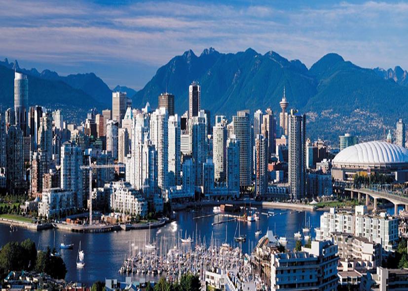 la ville de Vancouver et sa marina