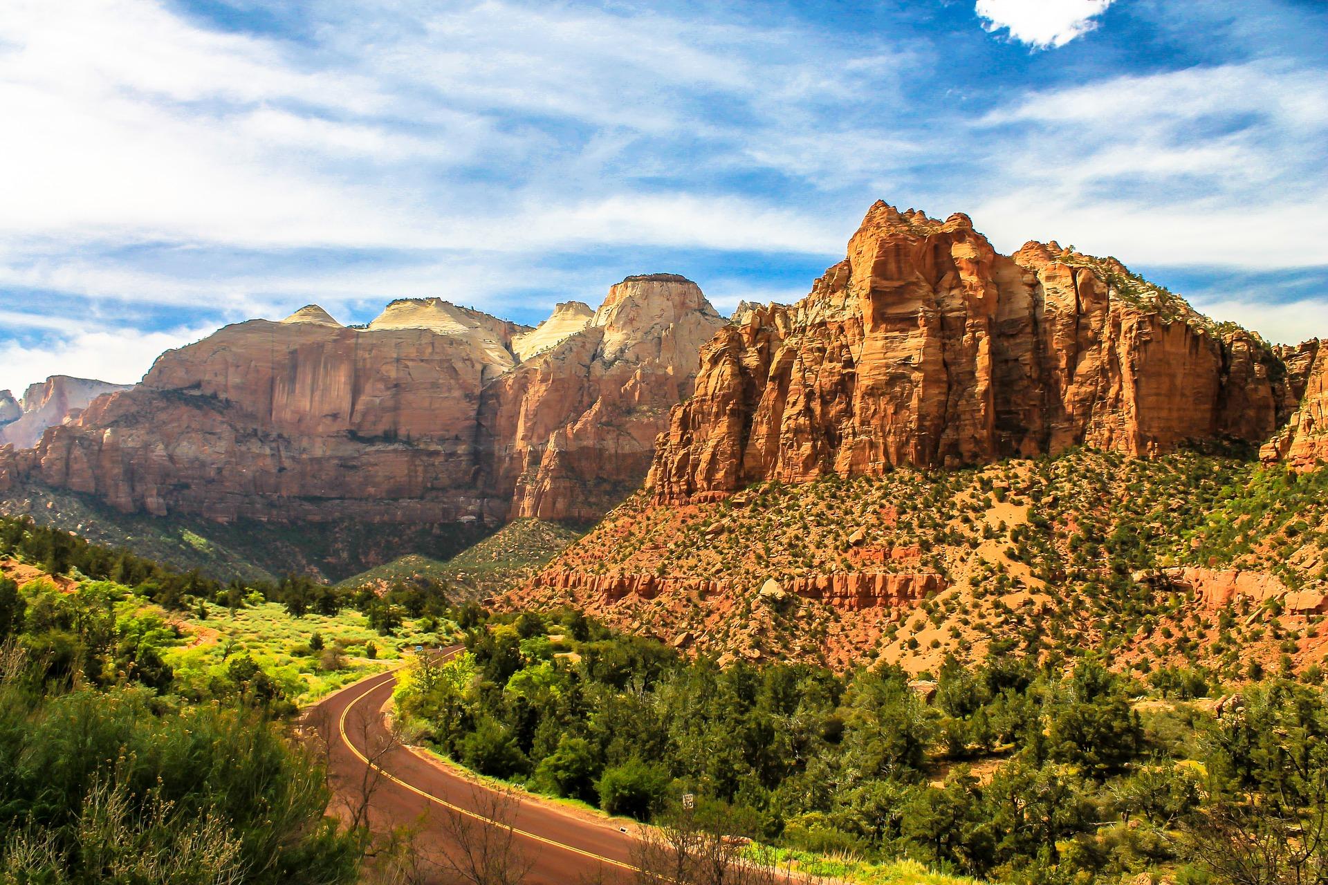 Zion, paysages de carte postale