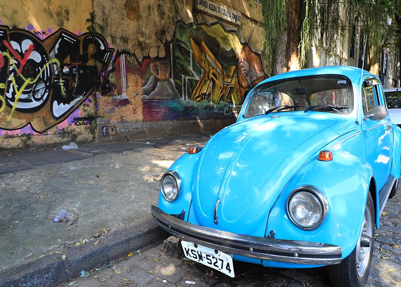 Les rues de Lapa à Rio de Janeiro