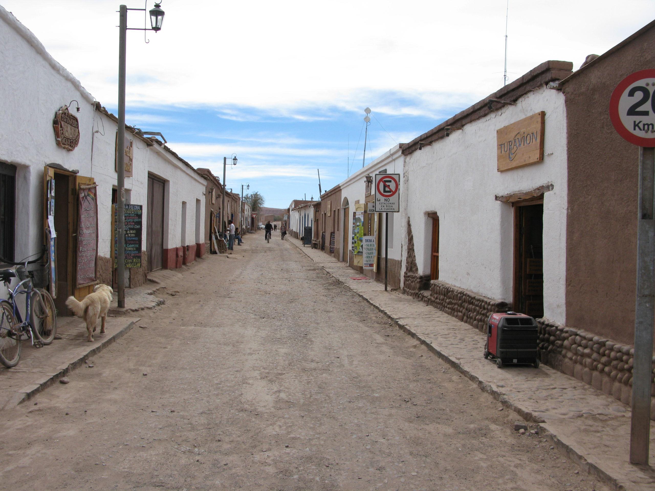 Les charmantes rues de San Pedro de Atacama