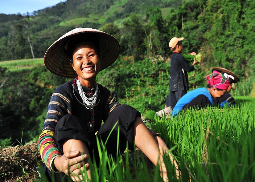 Ethnie des Lolo noirs à Khuoi Khon