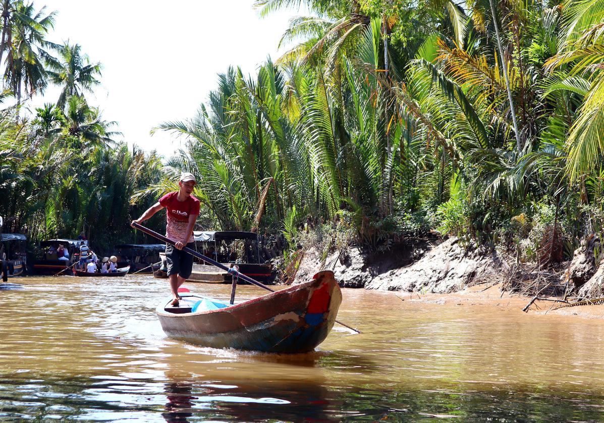 Ben Tre sur le Mekong