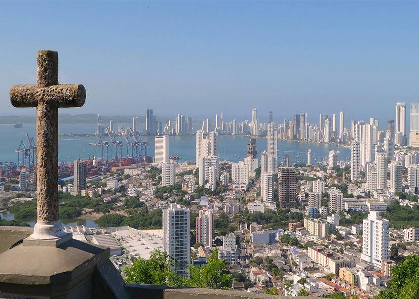 Panorama sur la superbe ville de Carthagène