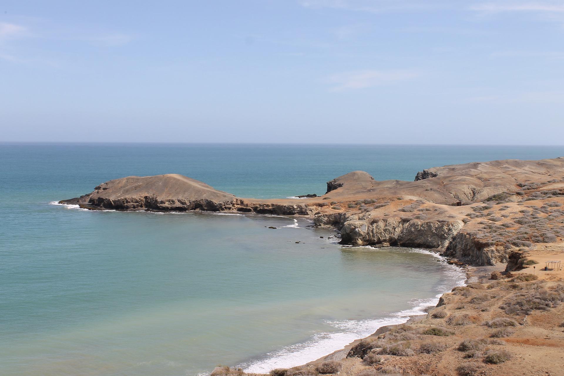 La plage de Boquita dans la baie de la Guajira