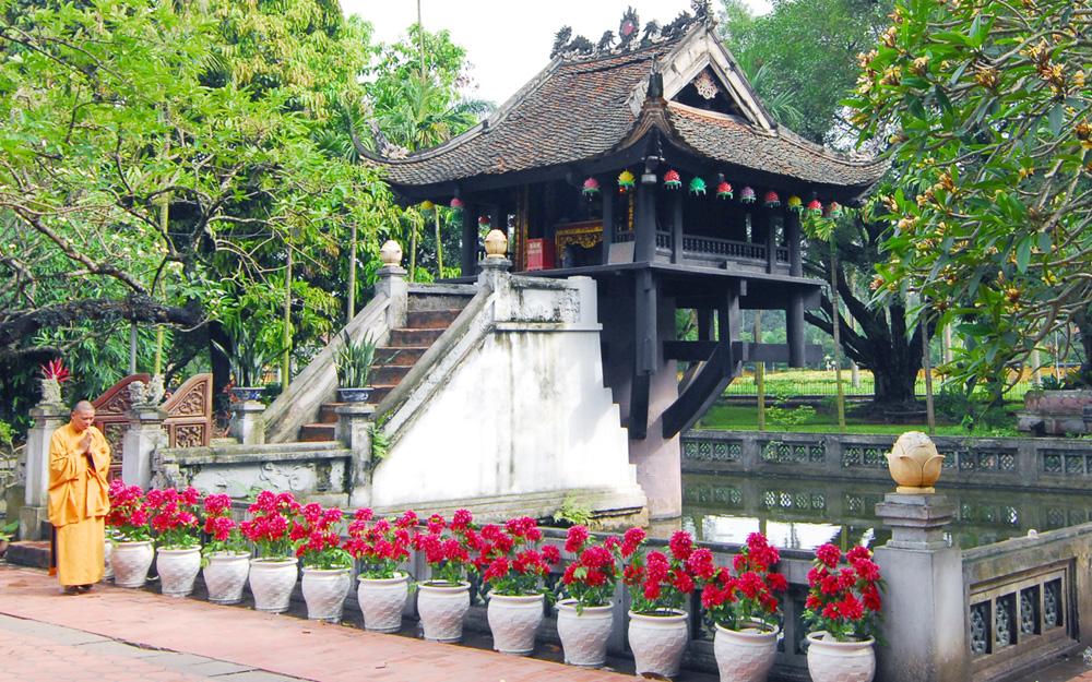 La pagode au pilier unique à Hanoi
