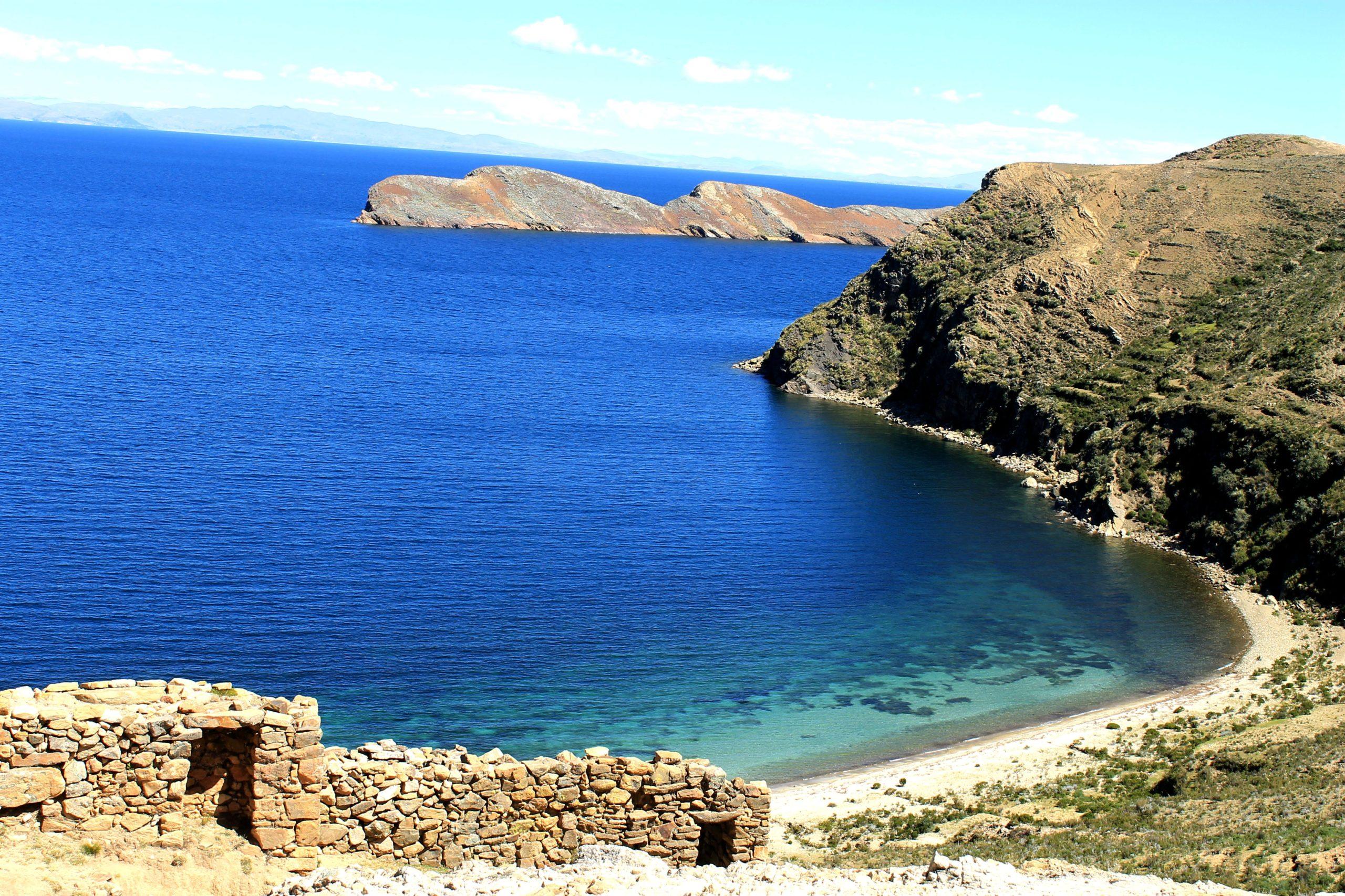 Ruines Chincana de l'ile du Soleil sur le lac Titicaca