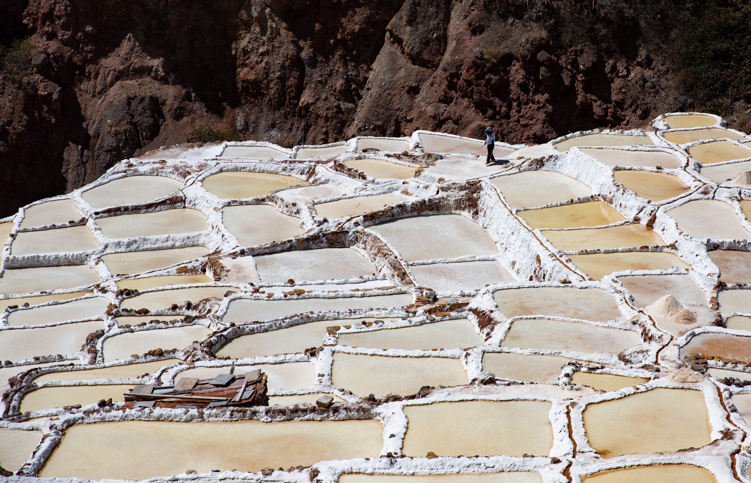 Les bassins des Salines de Maras