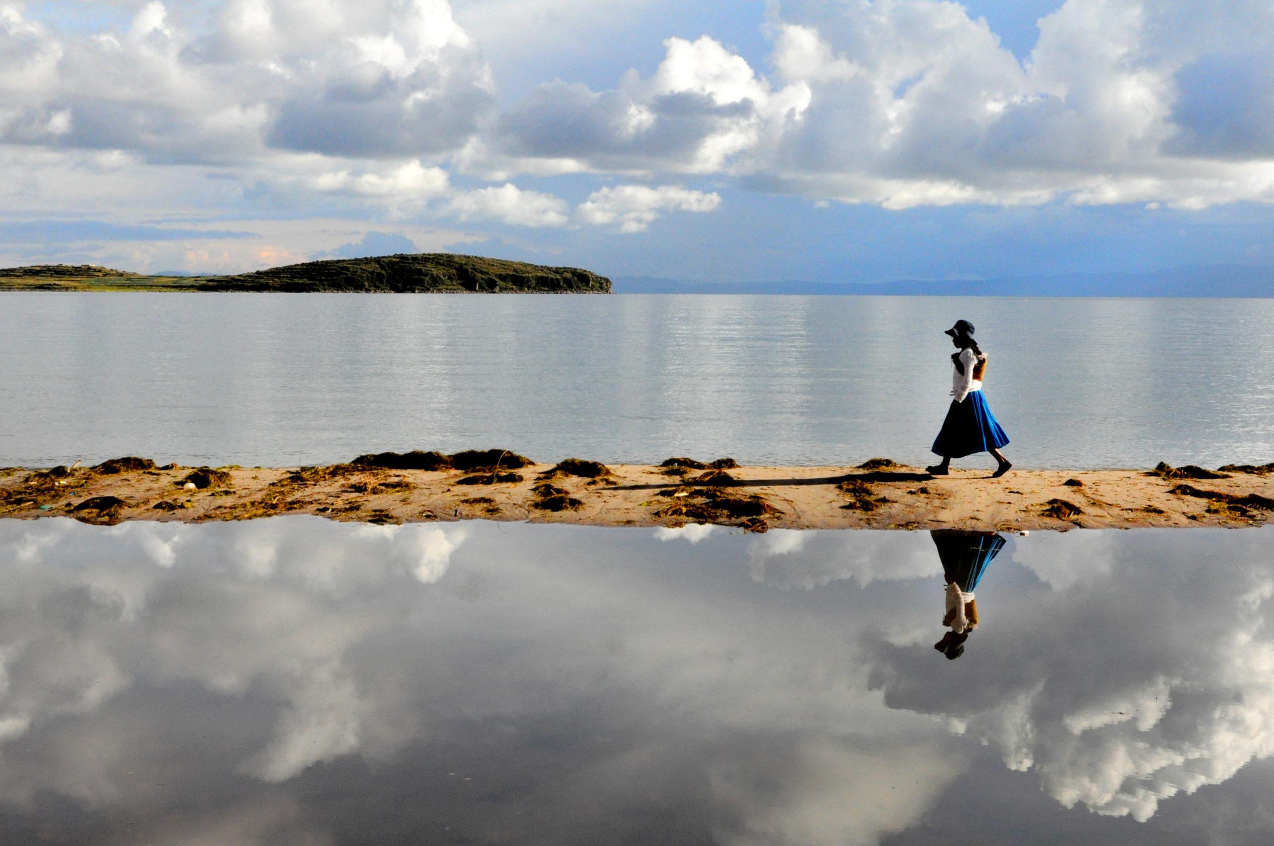 Ile du Soleil, reflets magiques sur le lac Titicaca