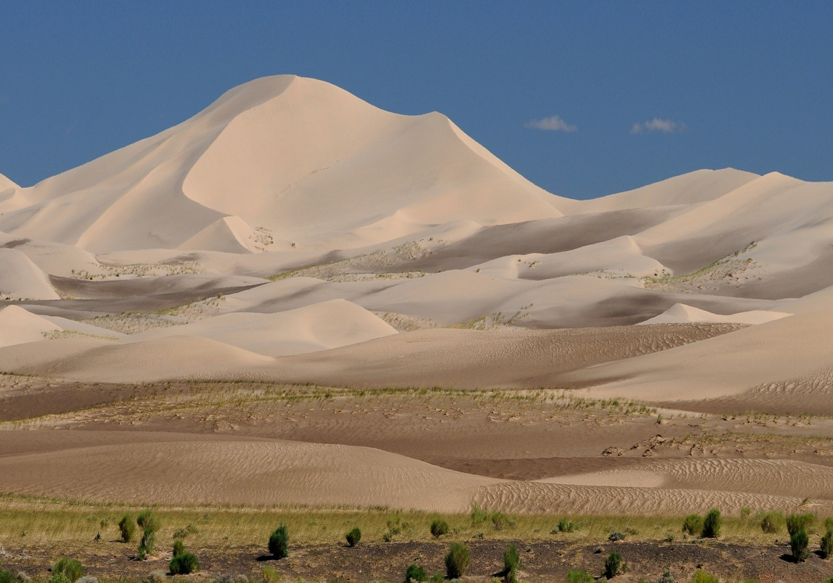 Traversée des dunes du désert de Gobi