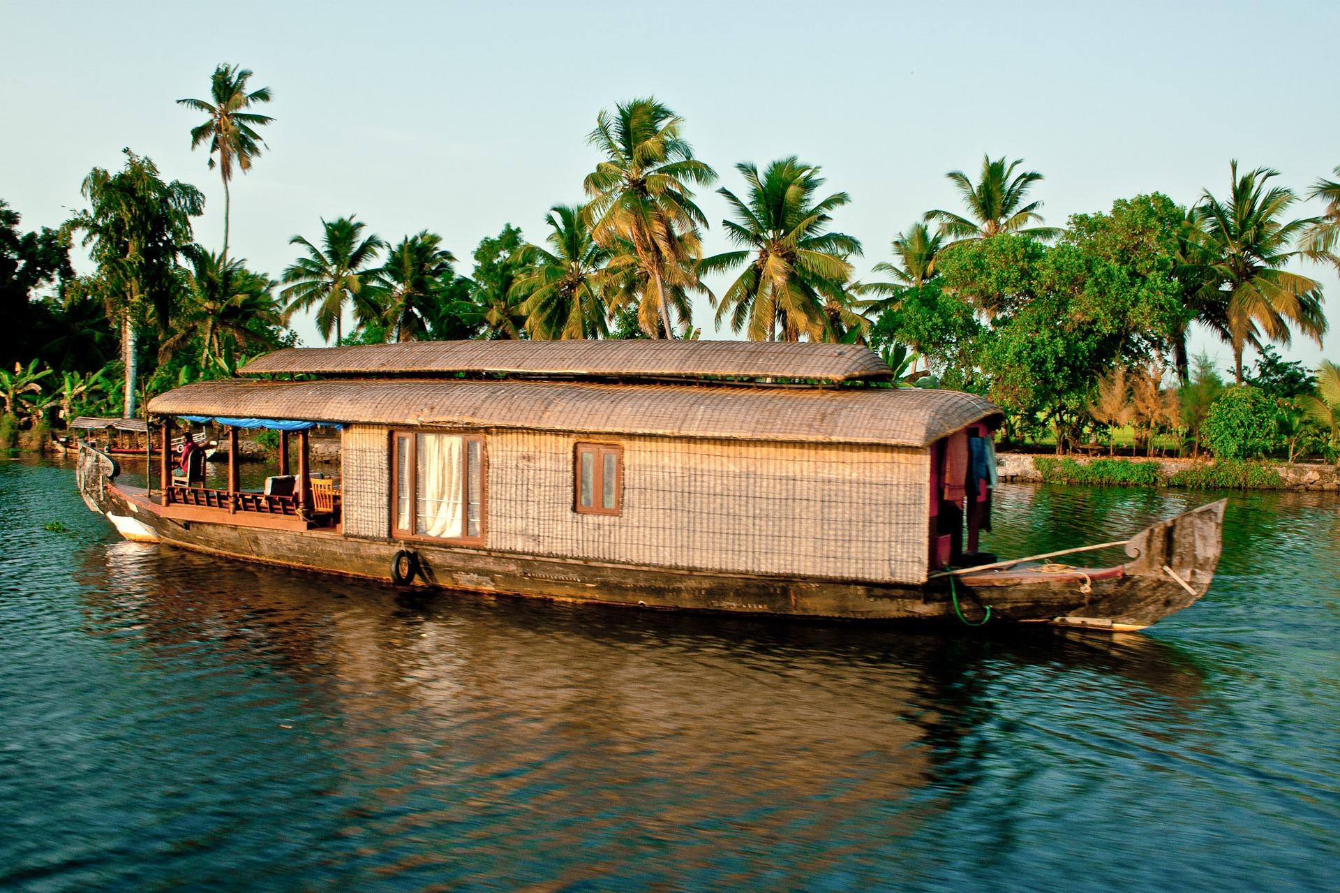 Votre House Boat dans les Backwaters à Alleppey