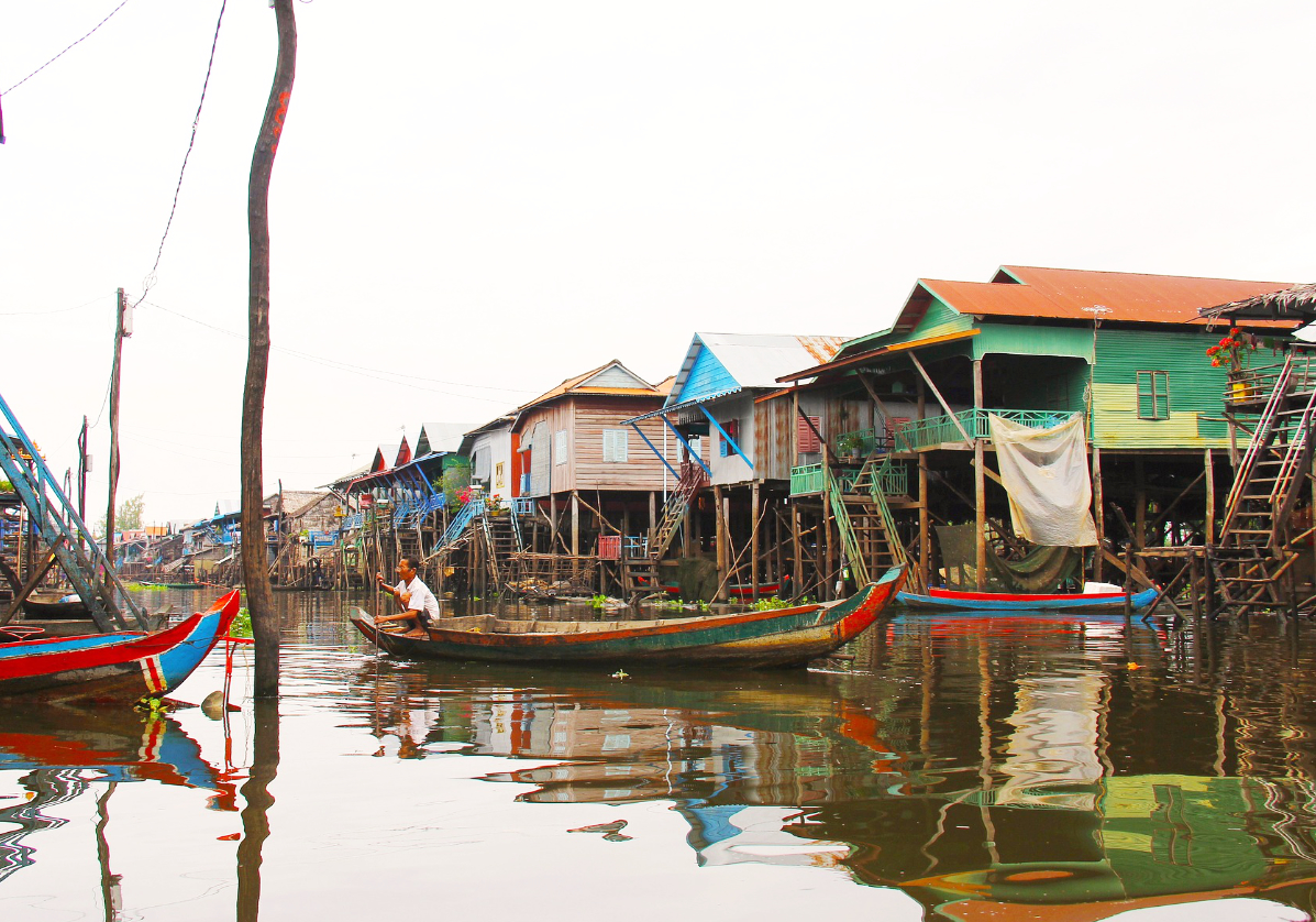 Visite des villages du lac du Tonle Sap