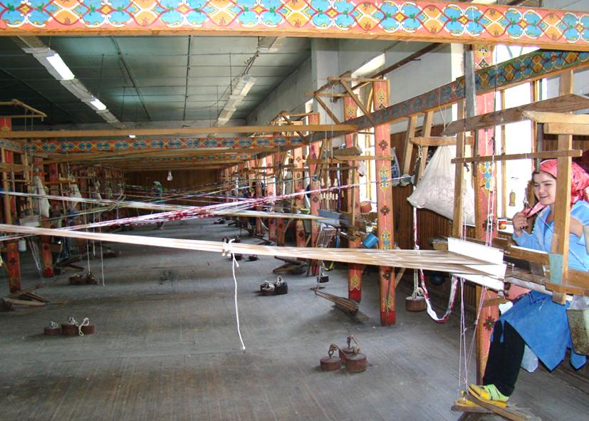 Les ateliers de la soie à Marguilan