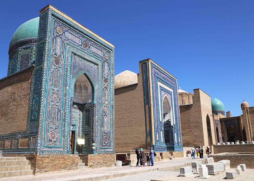 Les faïences du mausolée Gour Emir à Samarcande