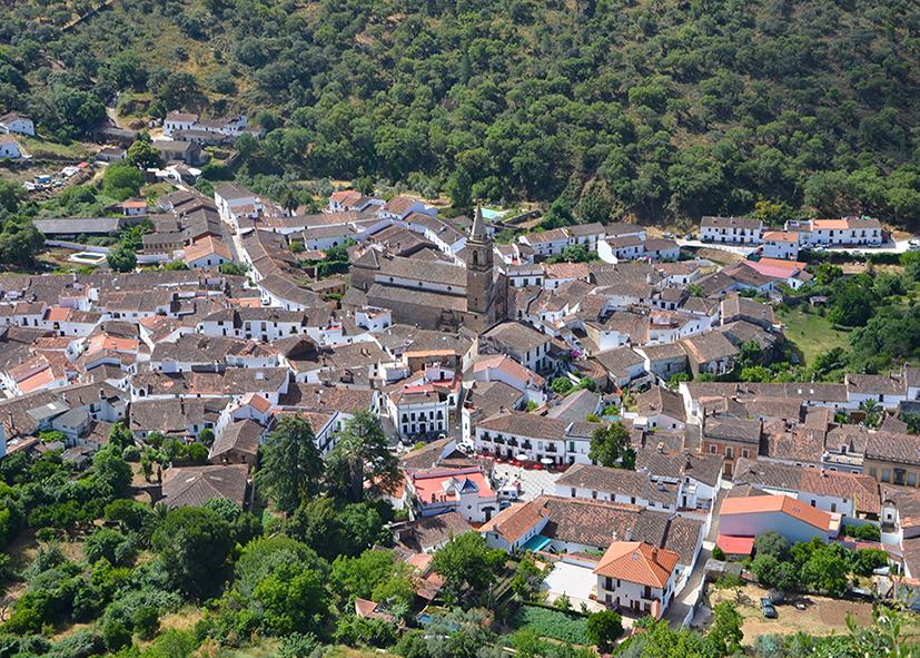 Village de Alájar dans la Sierra Aracena