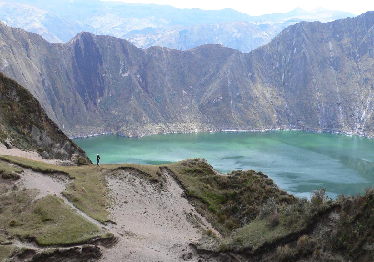 Randonnée dans le cratère de Quilotoa
