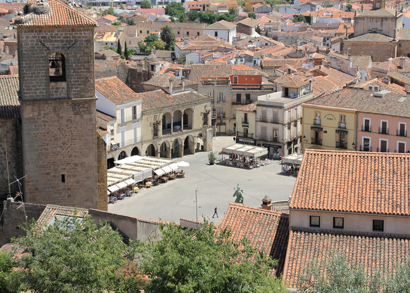 La Plaza mayor de Trujillo