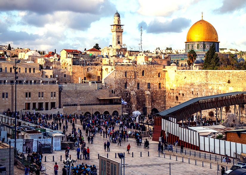 Le mur des Lamentations dans le vieille ville de Jérusalem