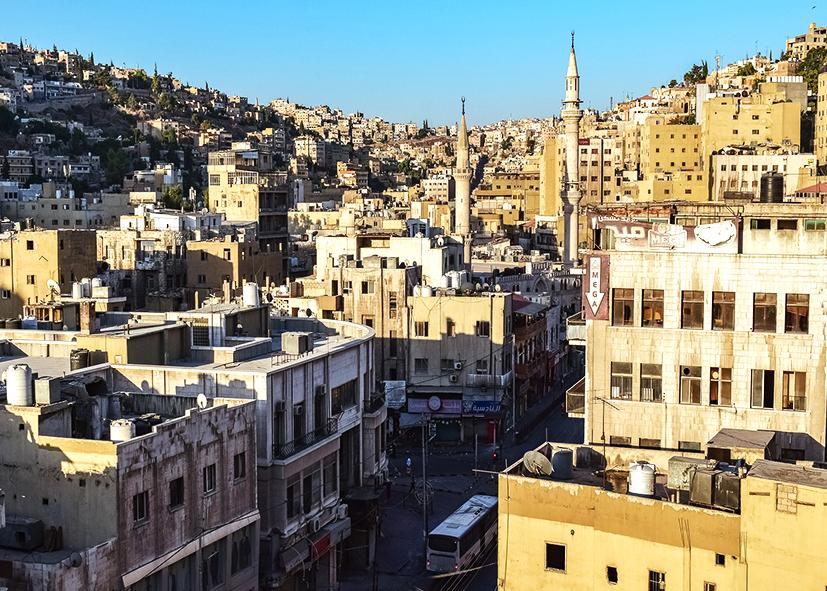 Les rues du centre d'Amman