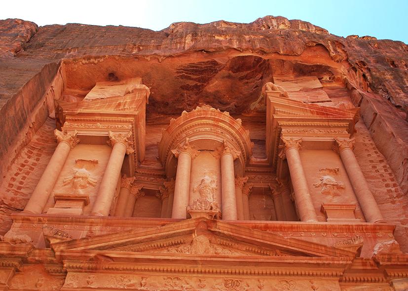 La Khazneh à Petra, joyau de la Jordanie