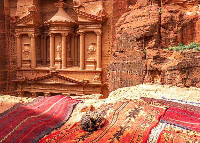 Petra, temple Ed Deir, splendeur du site Nabatéen