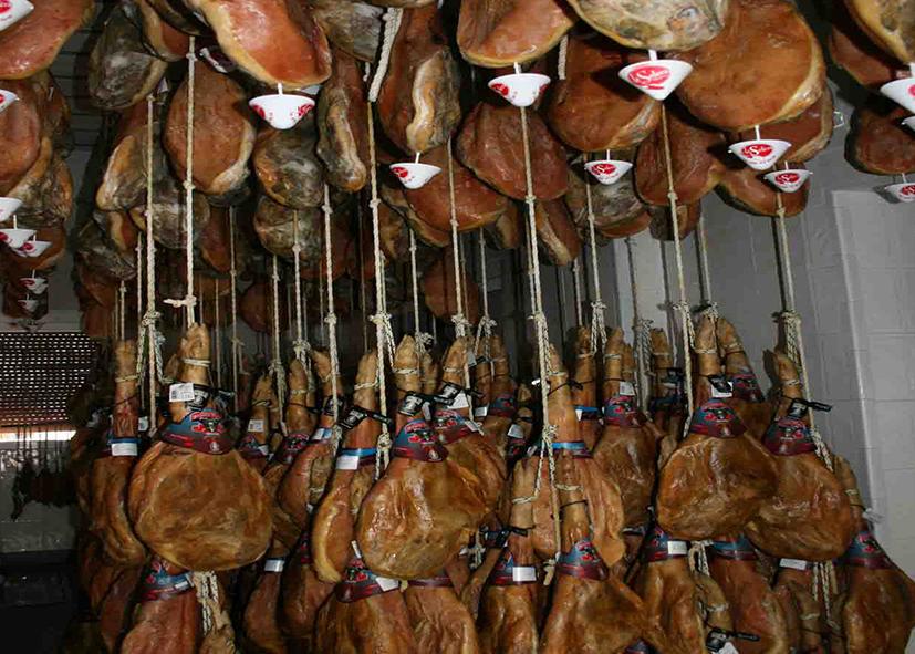 Séchage du jambon ibérique à Trevelez