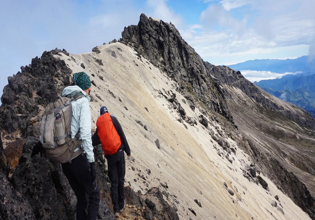 Randonnée autour du cratère du volcan actif Pichincha