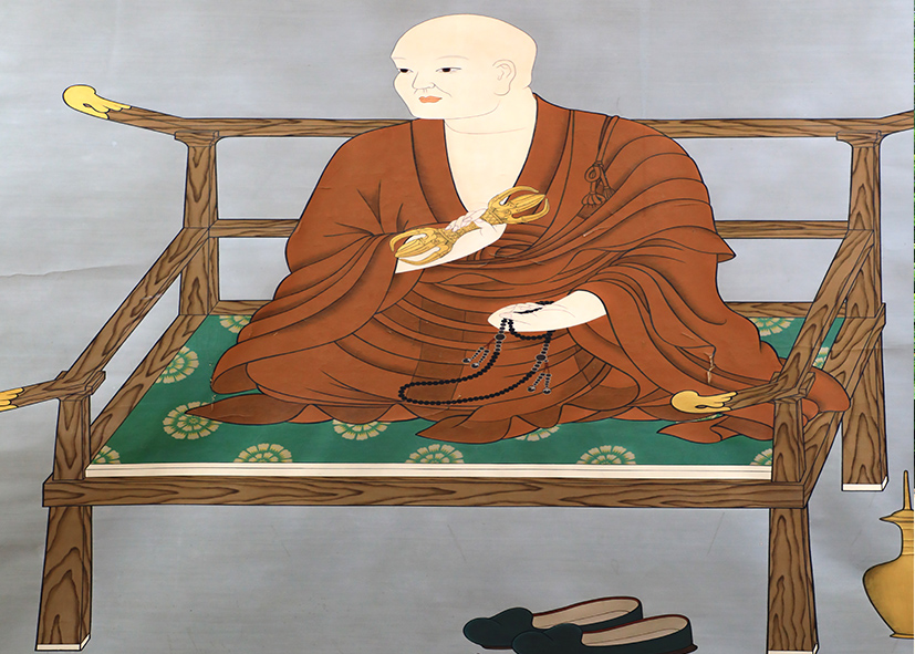 Icône du moine Kobo Daishi fondateur du Mont Koya