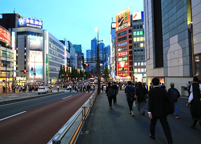 Boulevards du centre de Tokyo