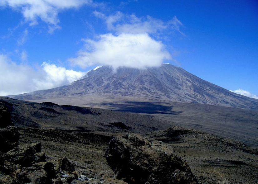 Blocs de lave de Lava Tower Mont Kilimandjaro
