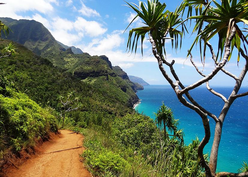 Le Kalalau Trail au Nord de l'ile de Kauai