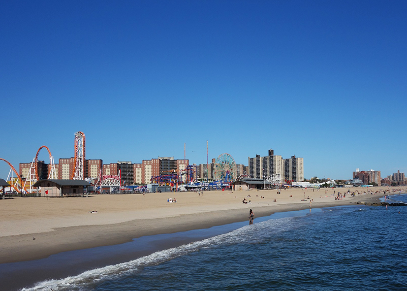 Le parc d'attraction de Coney Island