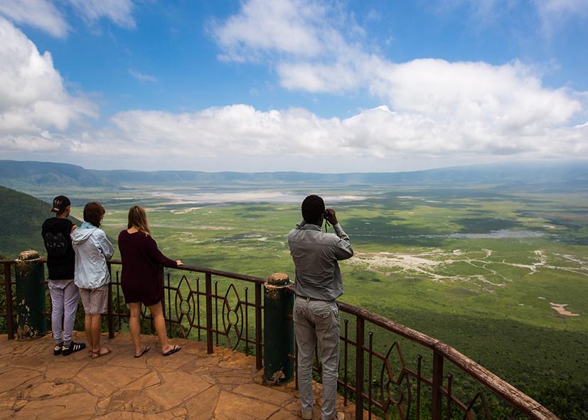 Point d'observation du cratère du Ngorongoro